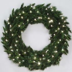 Vickerman 36in. Green 200 Tips Wreath 70 Clear Dura-Lit Lights