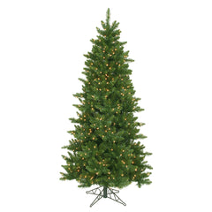 Vickerman 6.5Ft. Green 1078 Tips Christmas Tree 550 Clear Dura-Lit