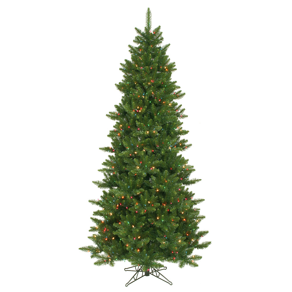 Vickerman 7.5Ft. Green 1438 Tips Christmas Tree 700 Multi-color Dura-Lit