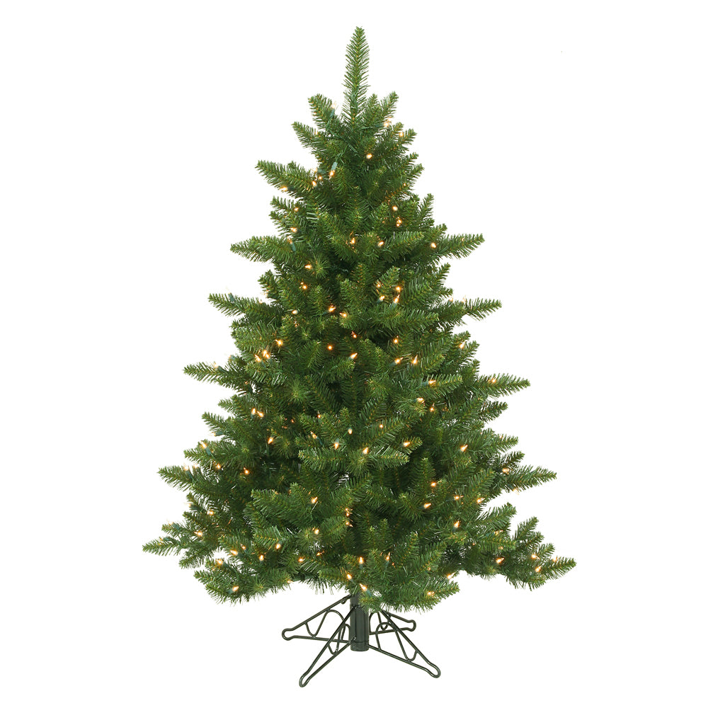 Vickerman 4.5Ft. Green 566 Tips Christmas Tree 300 Clear Dura-Lit