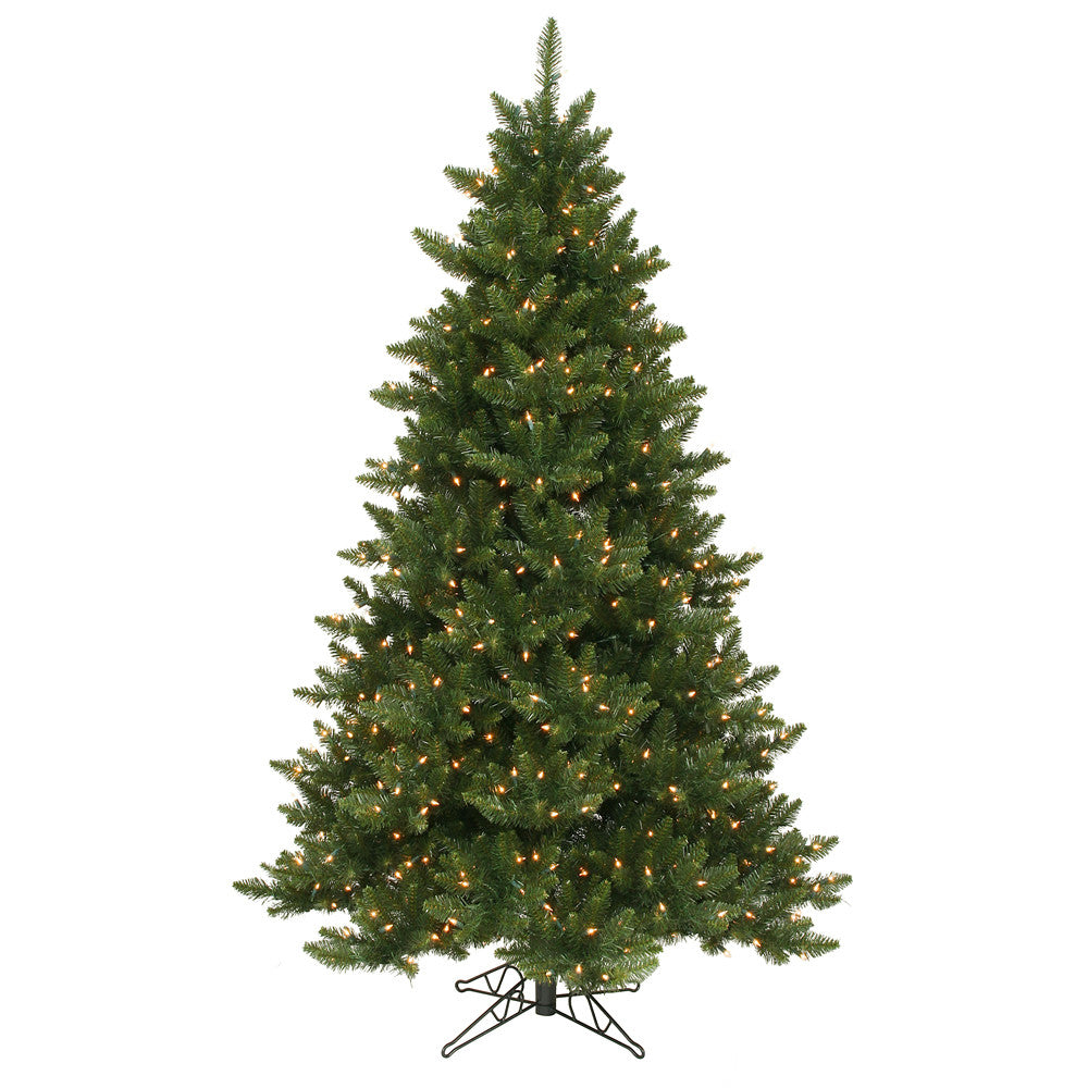 Vickerman 6.5Ft. Green 1270 Tips Christmas Tree 600 Clear Dura-Lit
