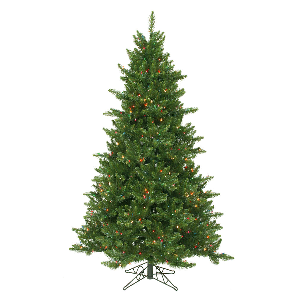Vickerman 6.5Ft. Green 1270 Tips Christmas Tree 600 Multi-color Dura-Lit