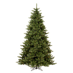 Vickerman 7.5Ft. Green 1758 Tips Christmas Tree 800 Clear Dura-Lit