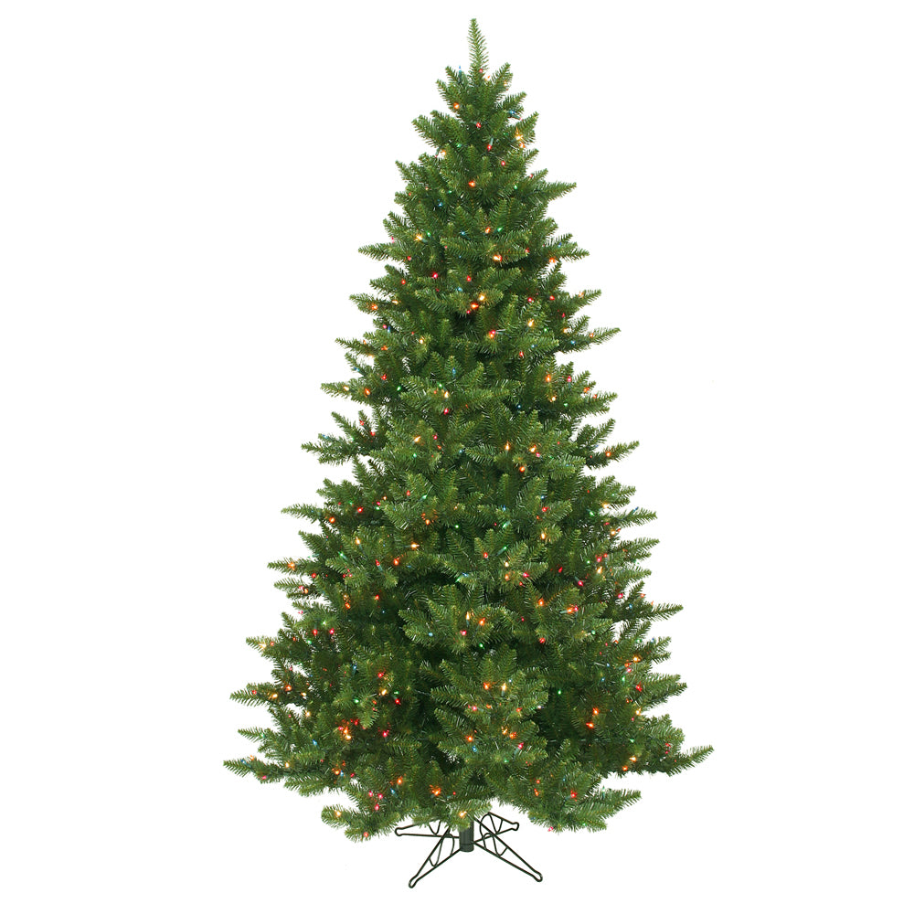 Vickerman 7.5Ft. Green 1758 Tips Christmas Tree 800 Multi-color Dura-Lit