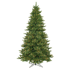 Vickerman 12Ft. Green 5128 Tips Christmas Tree 2100 Clear Dura-Lit