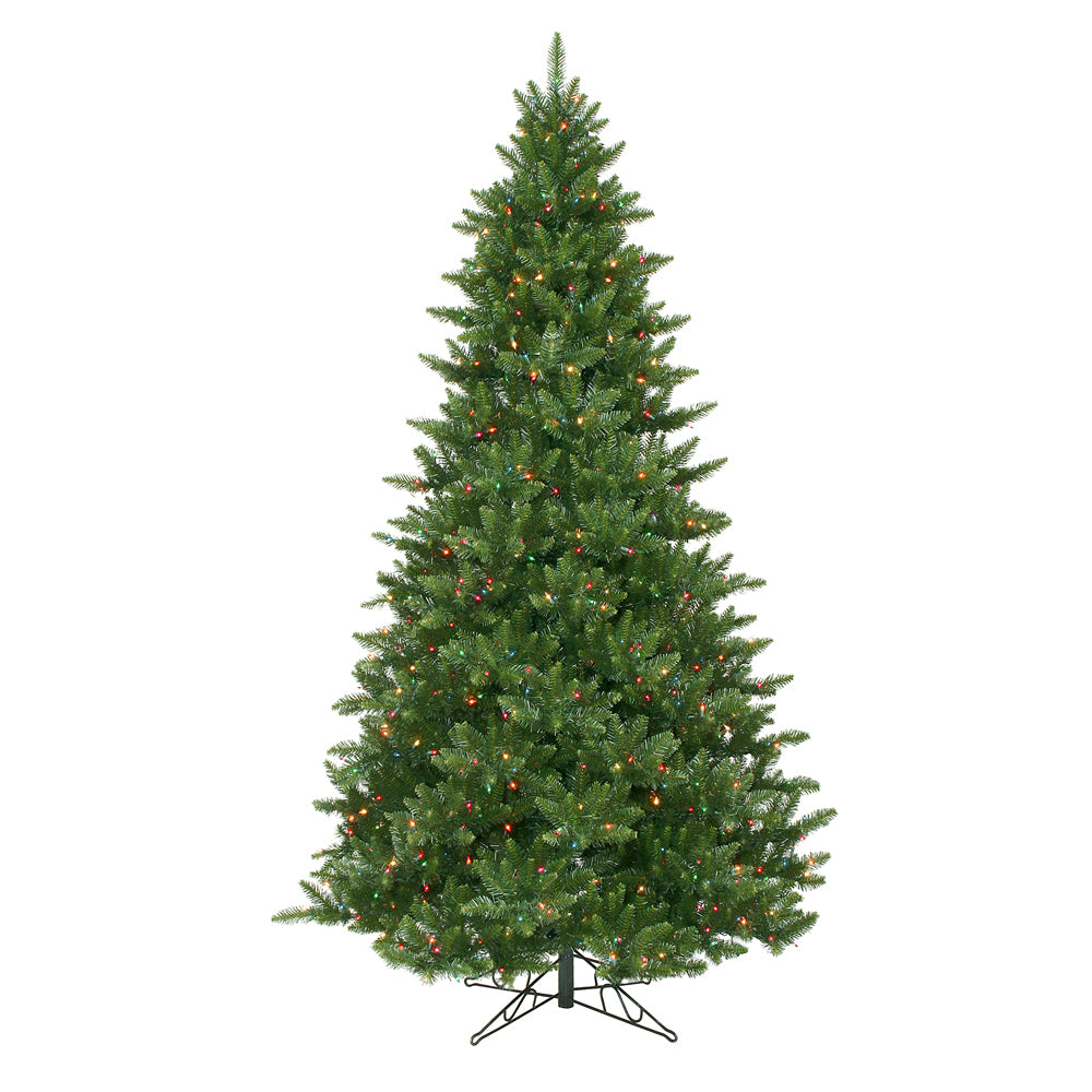 Vickerman 9.5Ft. Green 3006 Tips Christmas Tree 1350 Multi-color Dura-Lit