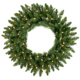 Vickerman 24in. Green 130 Tips Wreath 50 Clear Dura-Lit Lights
