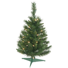 Vickerman 24in. Green 72 Tips Christmas Tree 35 Clear Dura-Lit