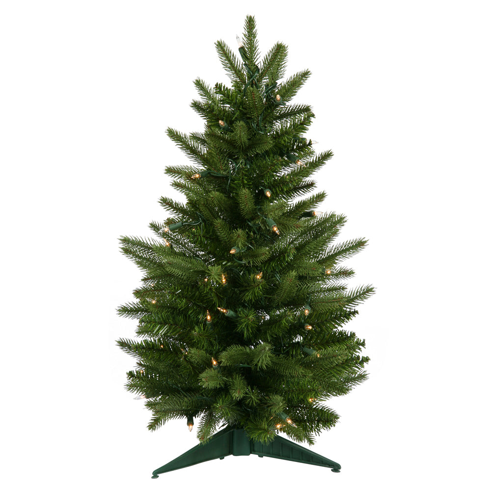 Vickerman 2Ft. Green 90 Tips Christmas Tree 50 Clear Dura-Lit