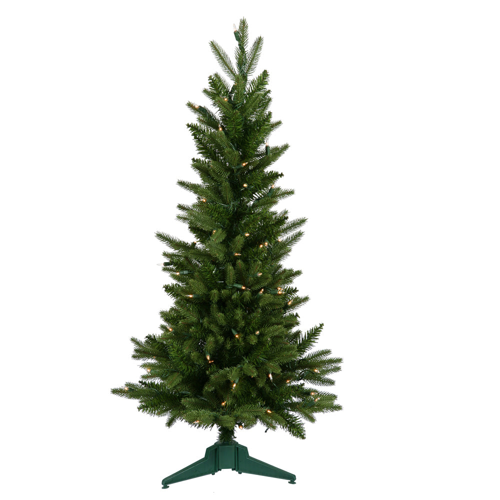 Vickerman 3Ft. Green 218 Tips Christmas Tree 100 Clear Dura-Lit