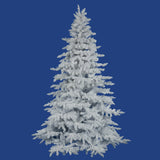 Vickerman 12Ft. Flocked White on White 4979 Tips Christmas Tree