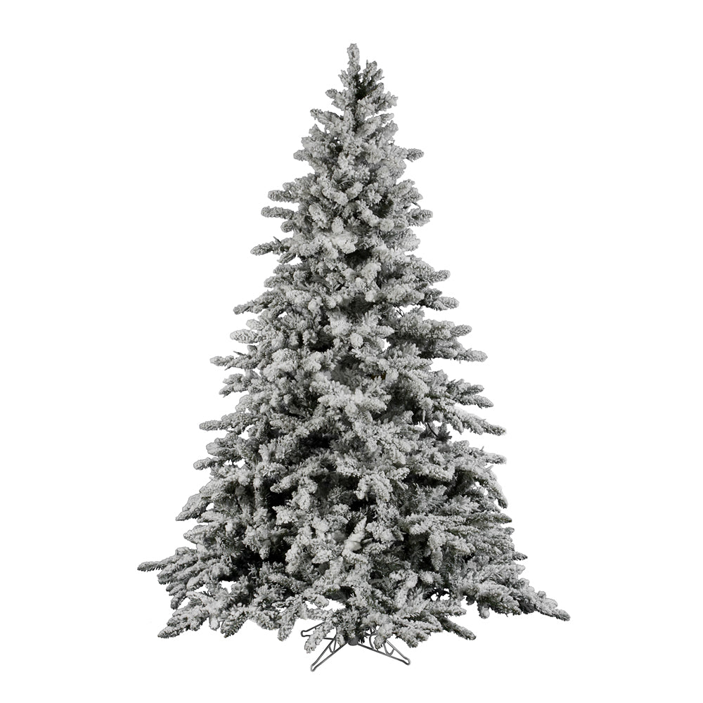 vickerman 9ft flocked white on green 2443 tips christmas tree