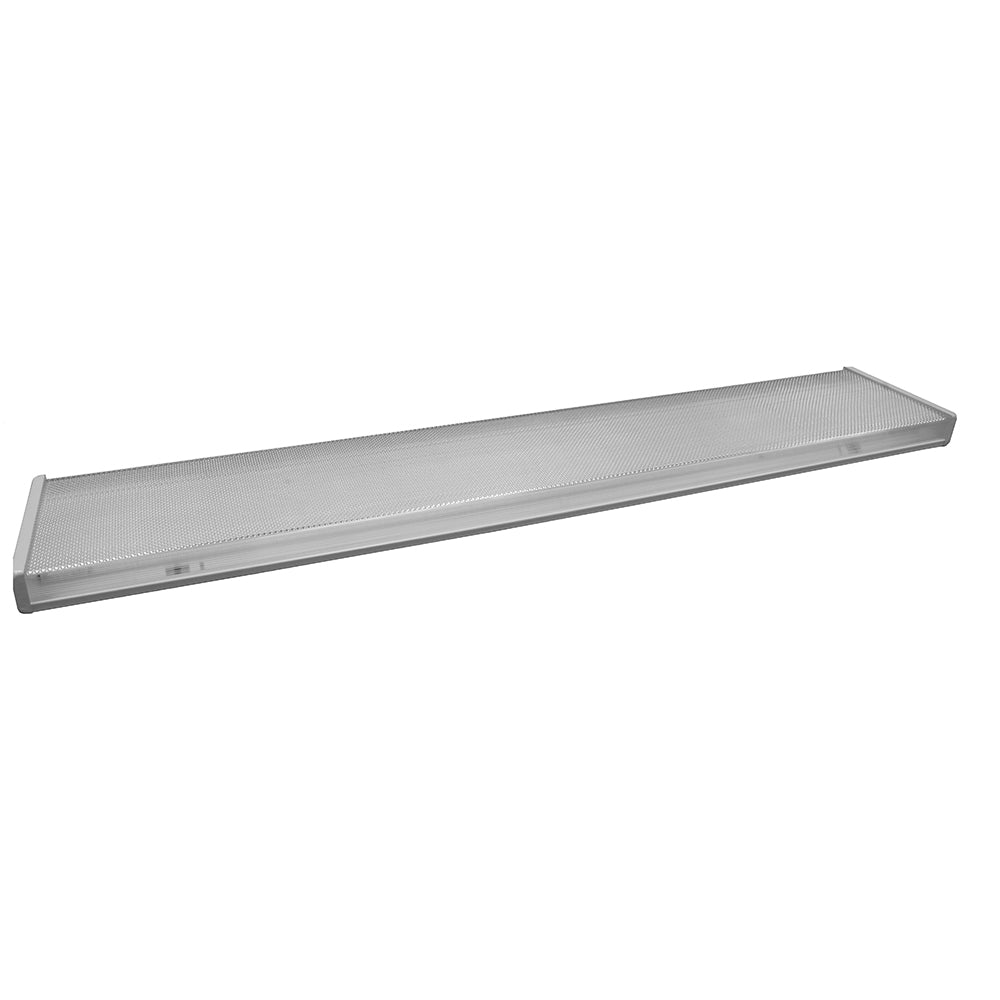NICOR 4 Ft. Recessed 4-Light LED Wraparound 4000K with Prismatic Lens