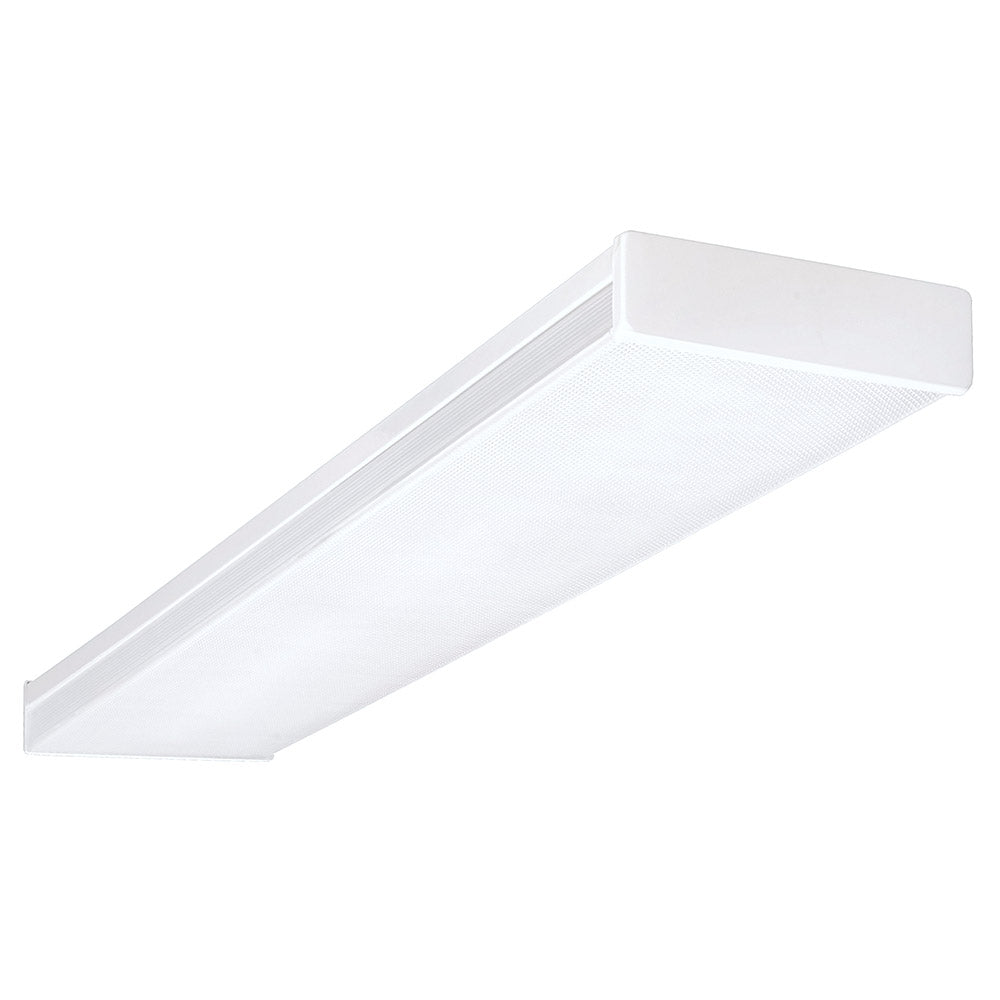 NICOR 4 Ft. Dimmable LED Wraparound with Prismatic Acrylic Lens in 3000K