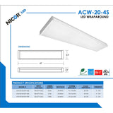 NICOR 4 Ft. Dimmable LED Wraparound with Prismatic Acrylic Lens in 4000K_2