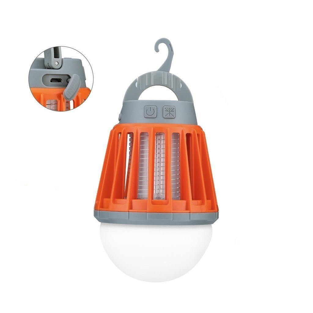 2 in 1 LED USB Rechargeable Waterproof Mosquito Killer Bug Zapper Light Lantern