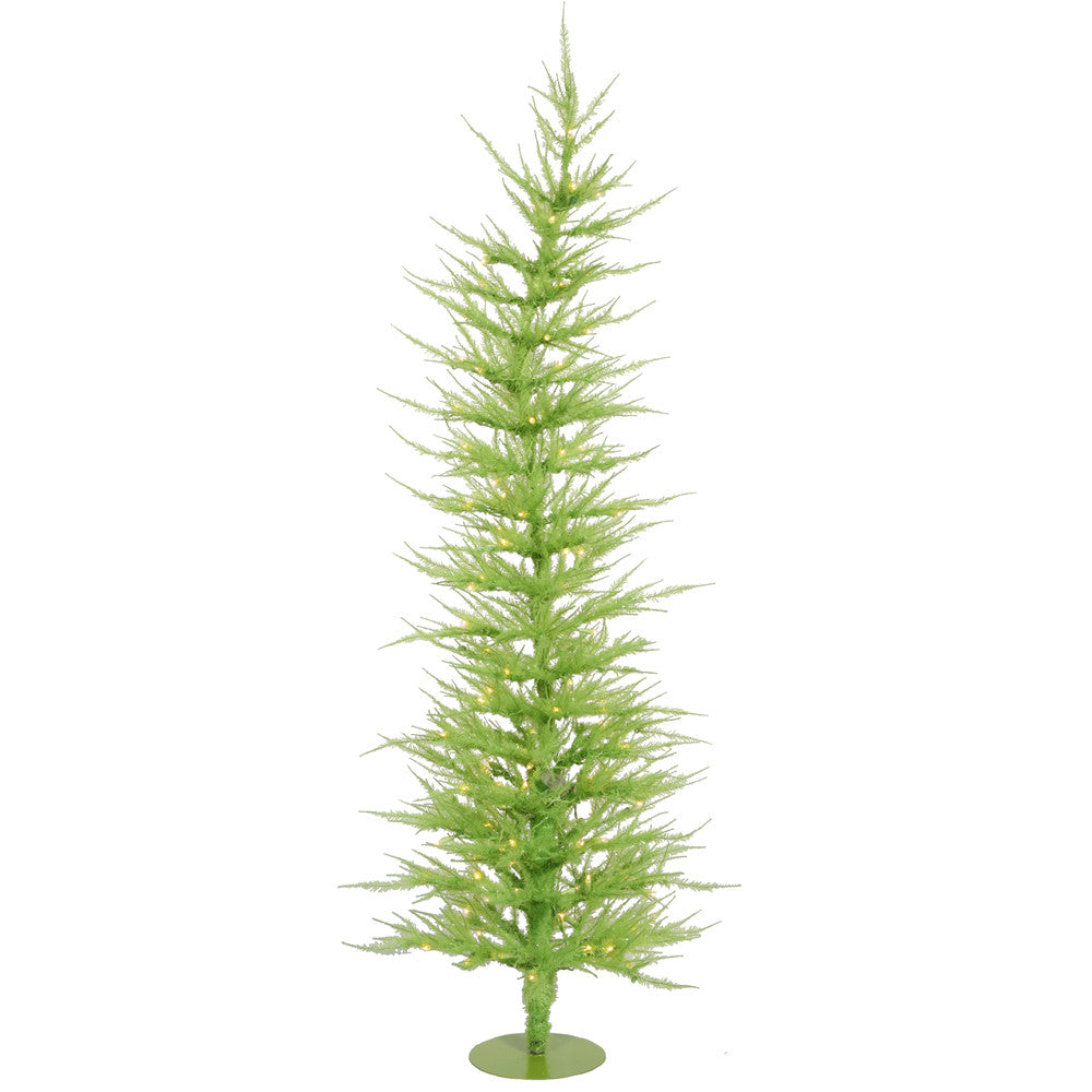 Vickerman 6Ft. Chartreuse 1262 Tips Christmas Tree 150 Green Mini Lights