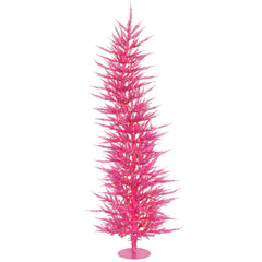 Vickerman 3' Pink Laser Artificial Christmas Tree - 50 Pink LED Lights 445 Tips