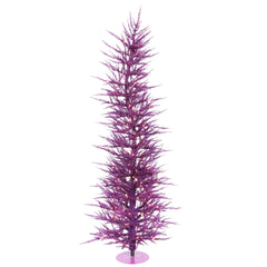 Vickerman 3' Purple Laser Tree - 50 Purple Lights - 445 PVC Tips - Metal base