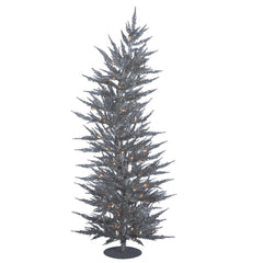 Vickerman 5Ft. Silver 889 Tips Christmas Tree 100 Clear Mini Lights