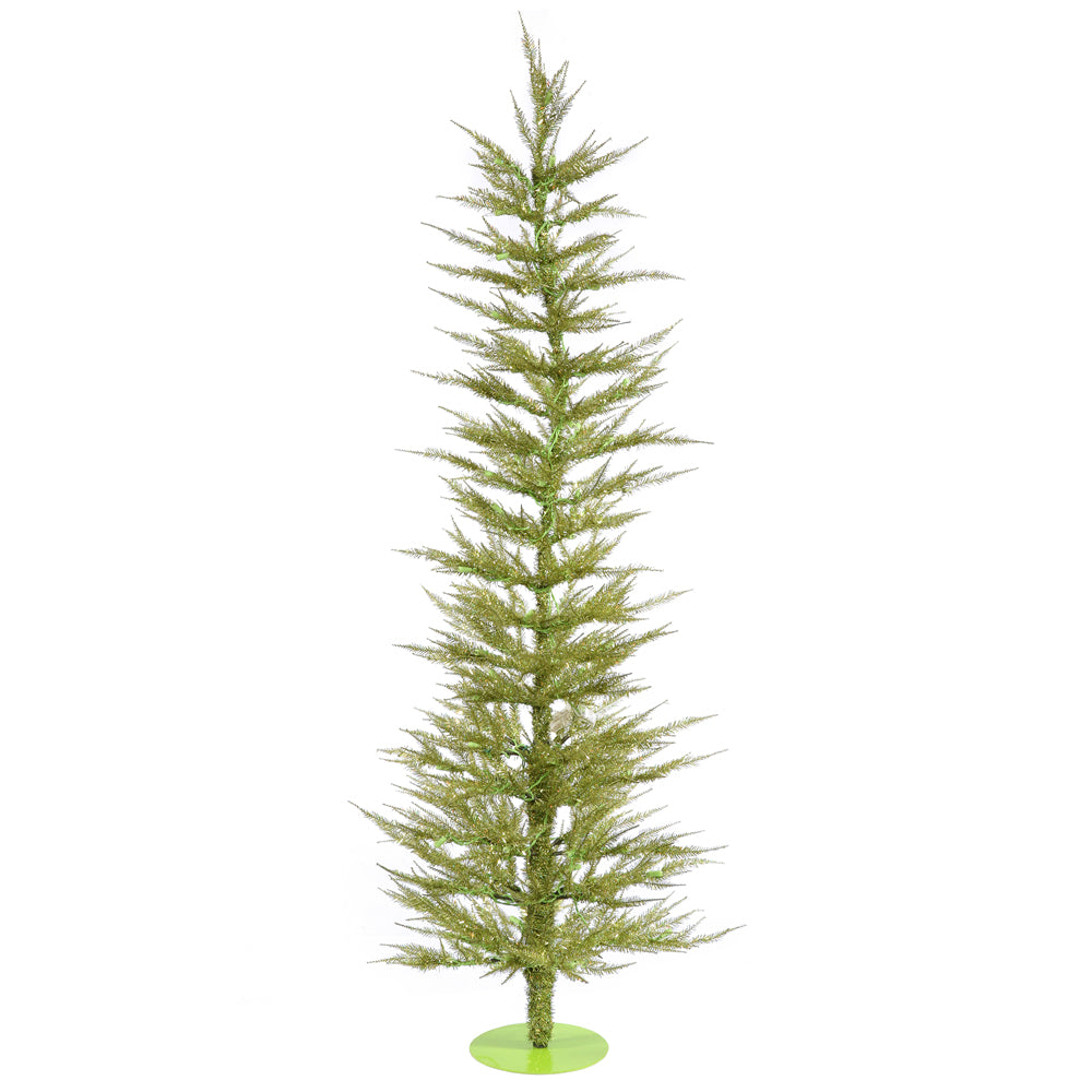 Vickerman 6Ft. Light Green 1262 Tips Christmas Tree 150 Clear Mini Lights