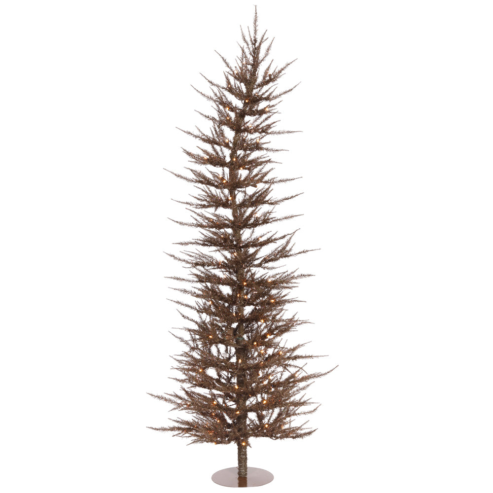 Vickerman 3Ft. Mocha 445 Tips Christmas Tree 50 Clear Mini Lights