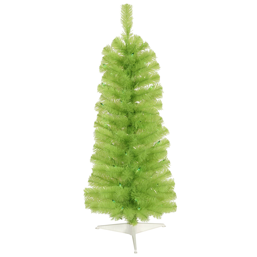 Vickerman 10Ft. Chartreuse 1652 Tips Christmas Tree 550 Green Mini Lights