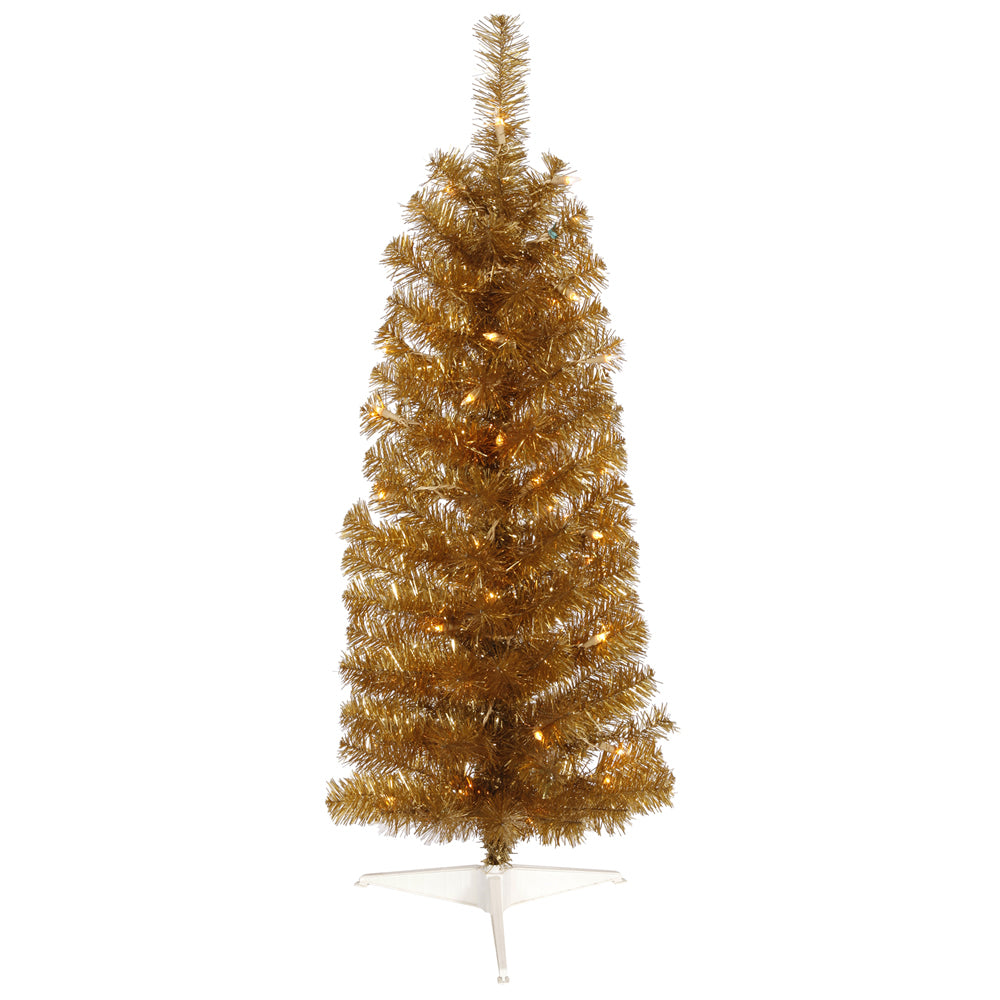 Vickerman 3' Antique Gold Pencil Artificial Christmas Tree - 50 Clear Lights