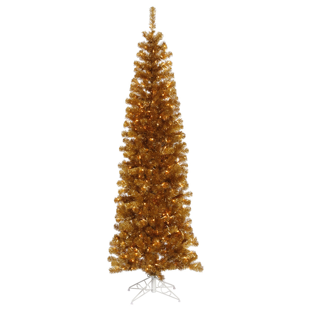 Vickerman 4.5Ft. Antique Gold 299 Tips Christmas Tree 150 Clear Mini Lights