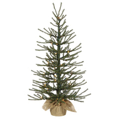 "Vickerman 30"" Angel Pine Artificial Christmas Tree - 35 Clear Lights Burlap base"