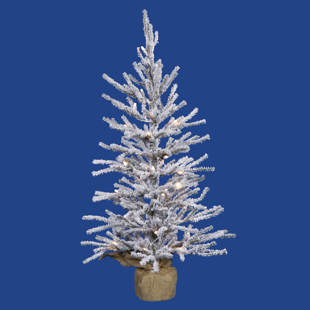 "Vickerman 24"" Frosted Angel Pine Artificial Christmas Tree - 35 Clear Lights"