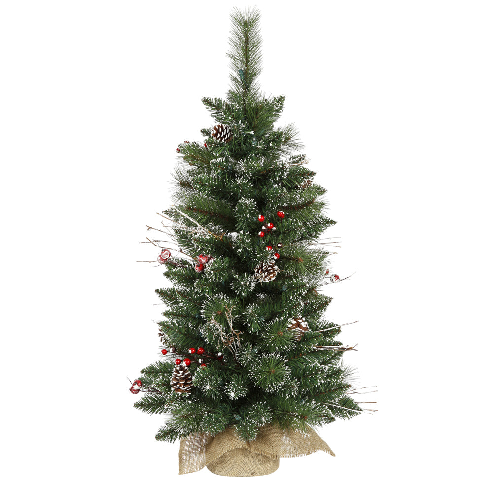 "3' x 17"" Snow Tip Pine/Berry Tree 134T"