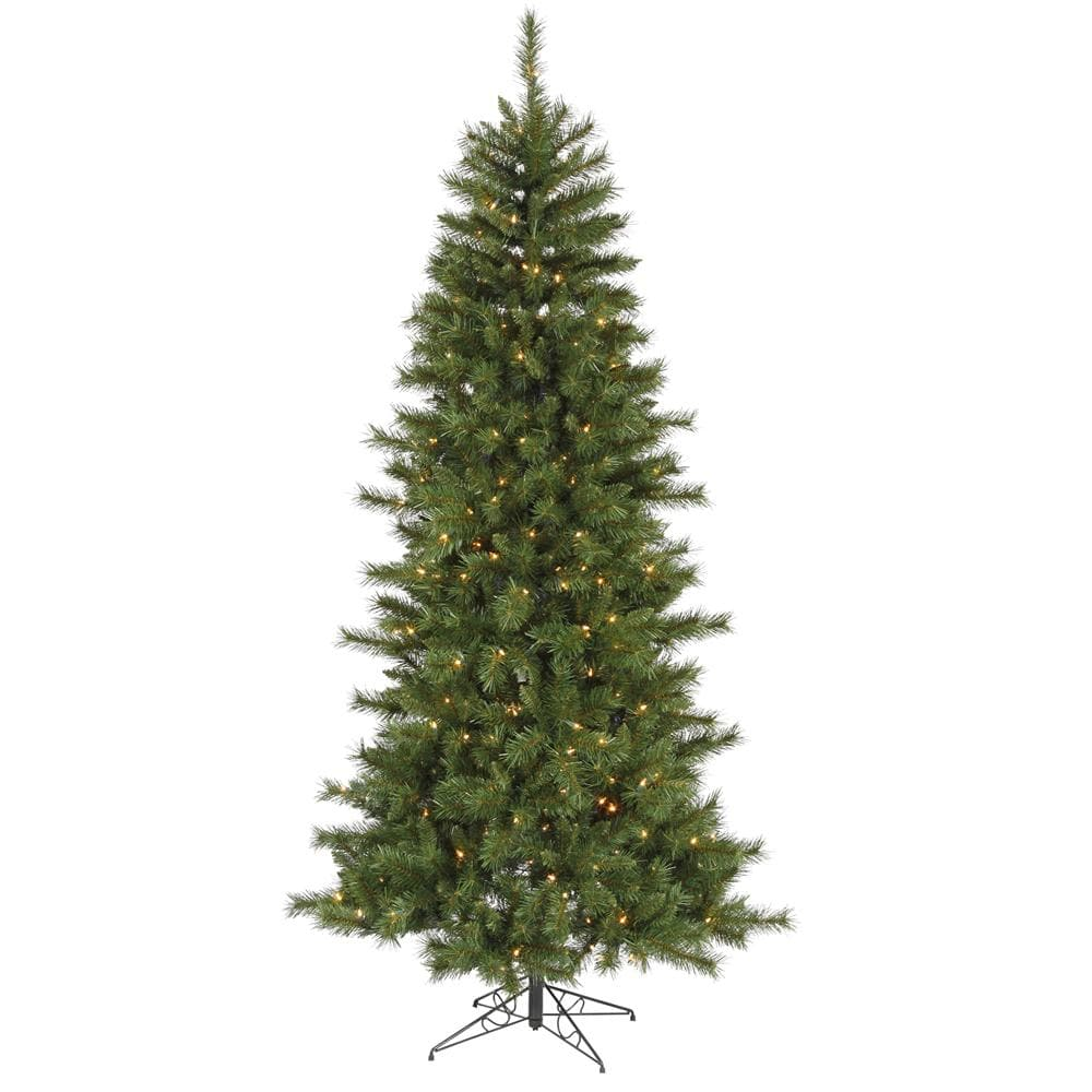 Vickerman 7Ft. Green 1001 Tips Christmas Tree 350 Multi-color Dura-Lit