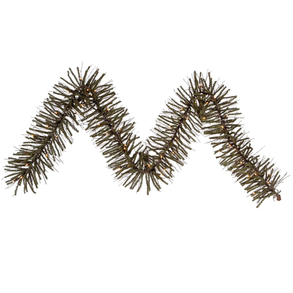 "9' x 10"" Vienna Twig Garland with 50 Clear Lights"