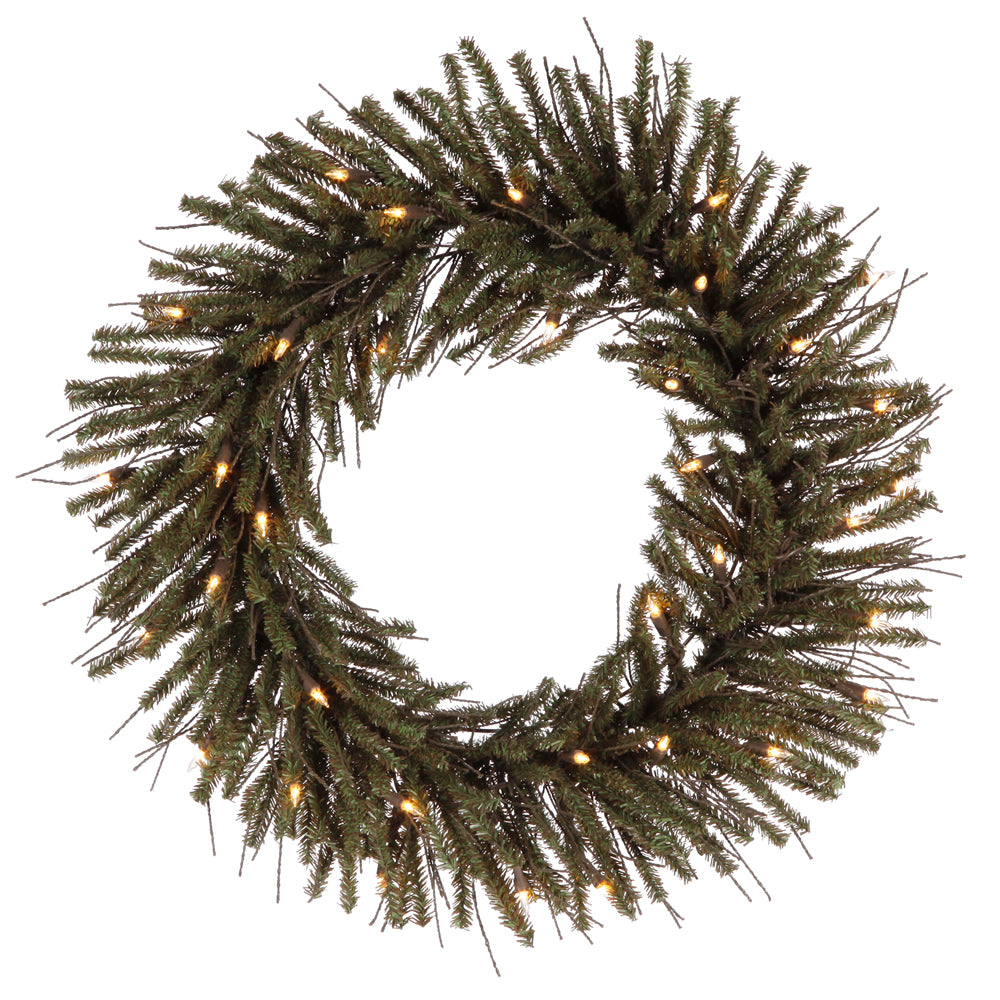 Vickerman 30in. Brown, Green 360 Tips Wreath