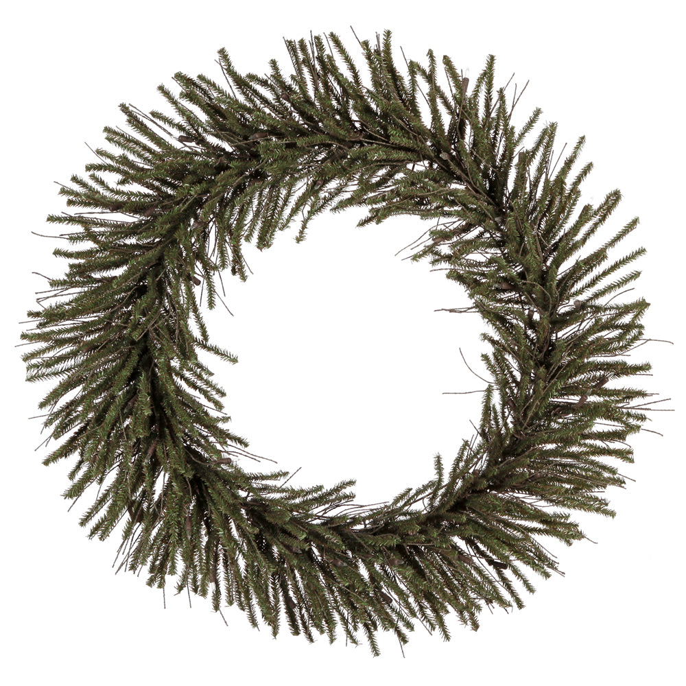 "36"" Unlit Vienna Twig Wreath 500Tips"