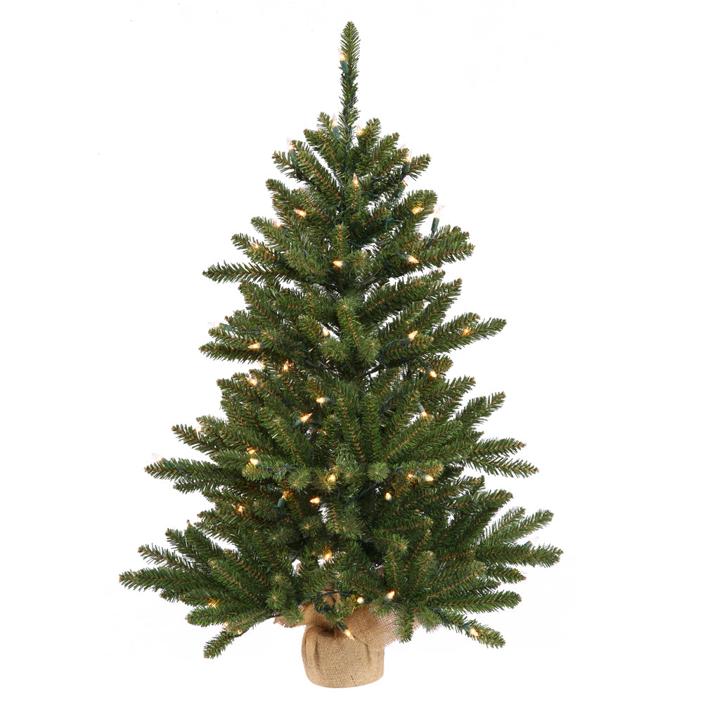 "Vickerman 30"" Anoka Pine Artificial Christmas Tree - 50 Multi-colored Lights"