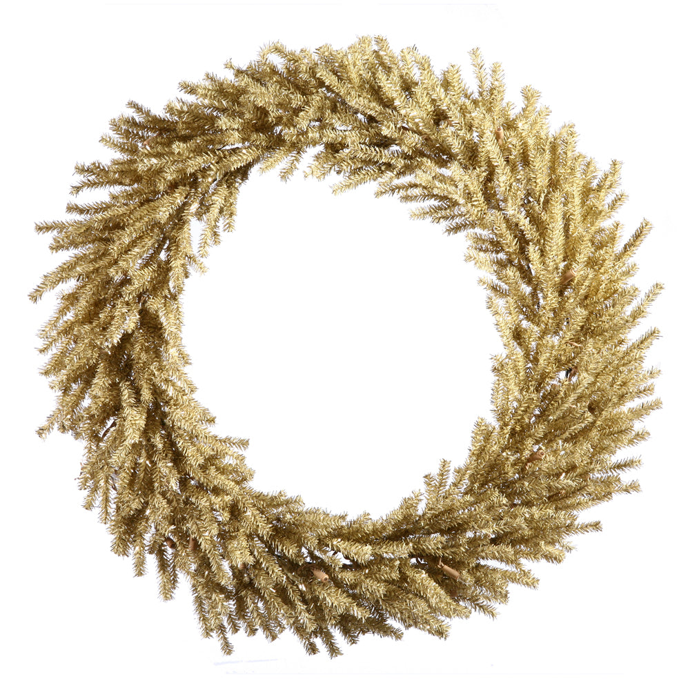 "30"" Unlit Champagne Wreath 940 Tips"