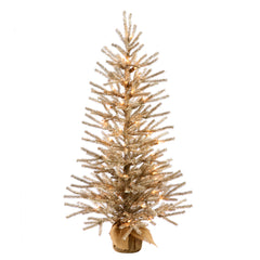 "Vickerman 24"" Mocha Artificial Christmas Tree - 35 Warm White LED Lights"