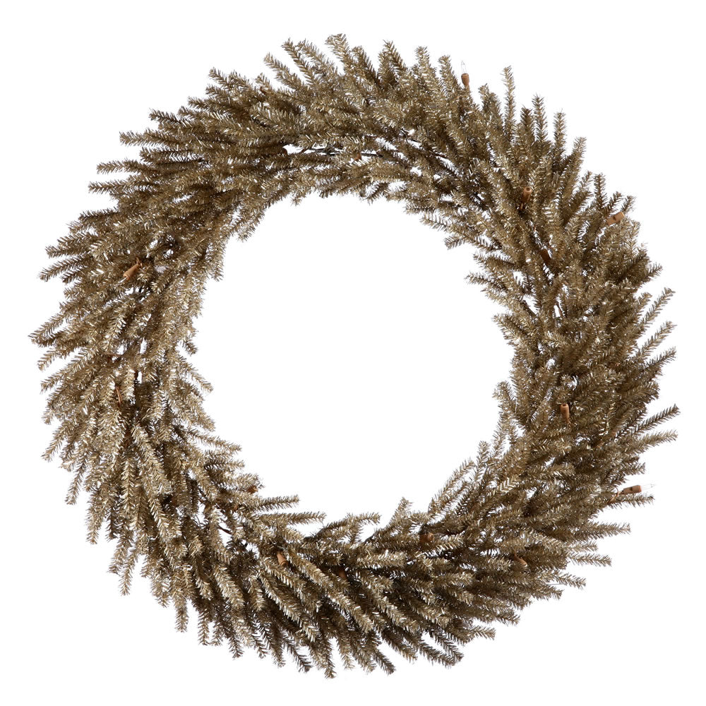 Vickerman 30in. Mocha 940 Tips Wreath