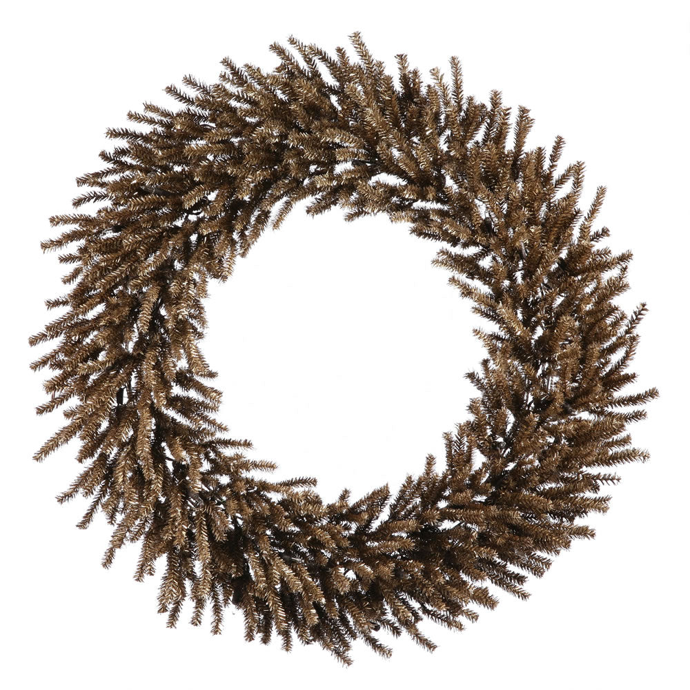 Vickerman 24in. Chocolate 580 Tips Wreath