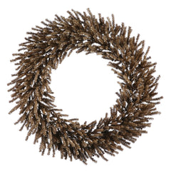 "24"" Unlit Chocolate Wreath 580 Tips"