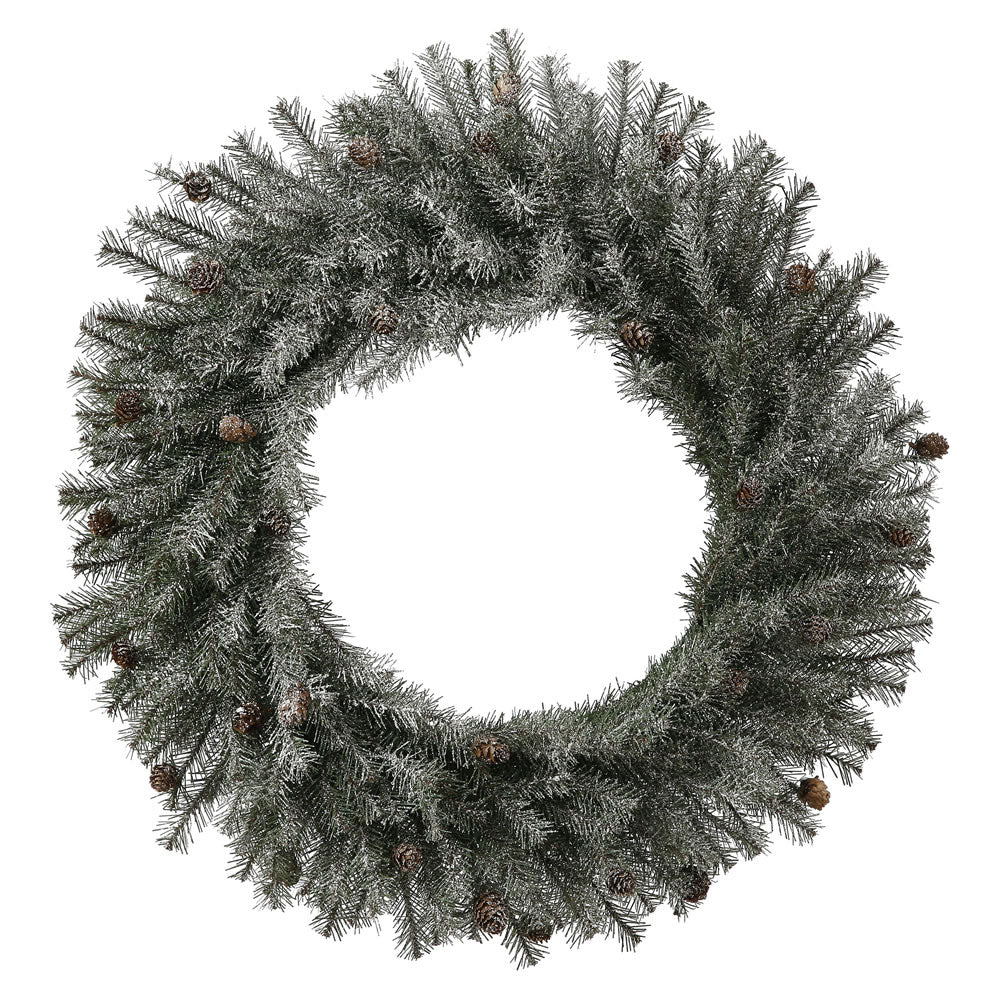 "24"" Frosted Pistol Pine Wreath 280T"