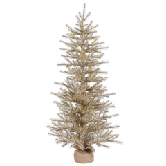 24in. x 18in. Mocha Tinsel Tree Burlap Base 231Tips