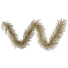9Ft. x 14in. Champagne Tinsel Garland 350Tips