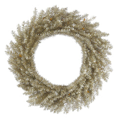 24in. Champagne Tinsel Wreath 260Tips
