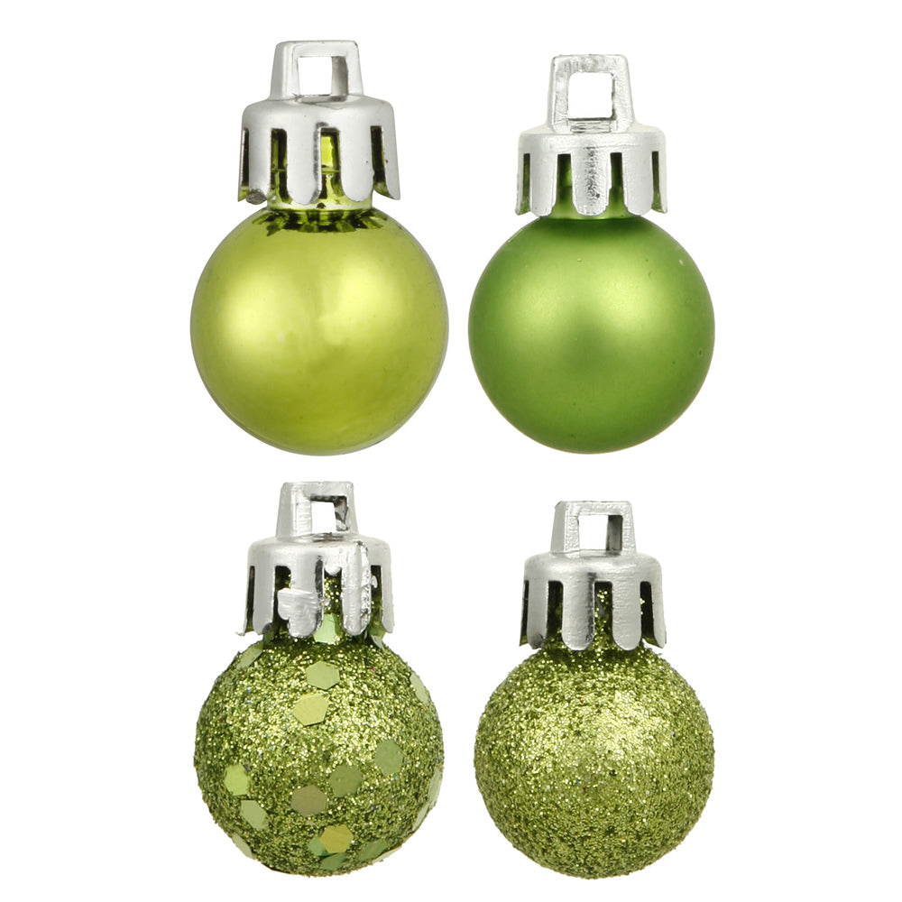 "2.75"" Lime 4 Finish Ornament Asst 20/Box"