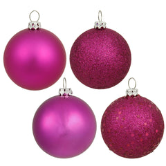"2.75"" Magenta 4 Finish Ornament Asst 20/Box"