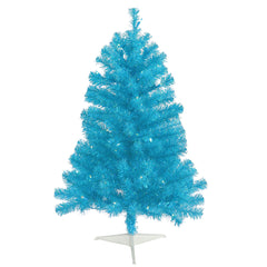 Vickerman 3' Sky Blue Artificial Christmas Tree and 50 Teal LED Lights