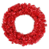 Vickerman 30in. Red 260 Tips Wreath 70 Red Mini Lights
